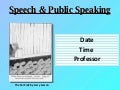Preparing for Speeches and Public Speaking