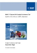 Speech & charts of BASF  Q1 2012