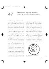 Speech and language disorders (2008...