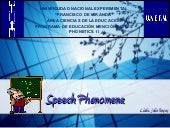 Speech phenomena
