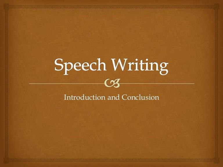 Speech writing and presentation