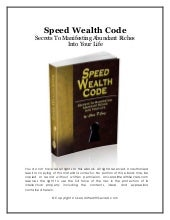 Speed wealthcode