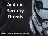 Sperasoft talks: Android Security Threats
