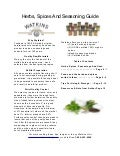 Herbs, Spices & Seasoning Guide
