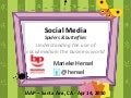Social media - Understanding the Use of  Social Media in the Business World