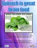Spinach is great brain food