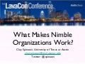 Spinuzzi - What Makes Nimble Organizations Work? -  lavacon2011
