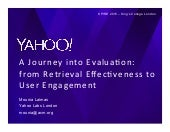 A Journey into Evaluation: From Retrieval Effectiveness to User Engagement