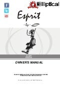 Owners Manual for  Spirit Esprit EL-455 Elliptical Trainer
