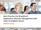 Best Practices for SharePoint Appli...