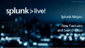 SplunkLive! Tampa: Splunk Ninjas: New Features, Pivot, and Search Dojo