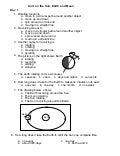 Rotation and Revolution Worksheets