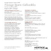 Heritage Auction - Sports Auction C...