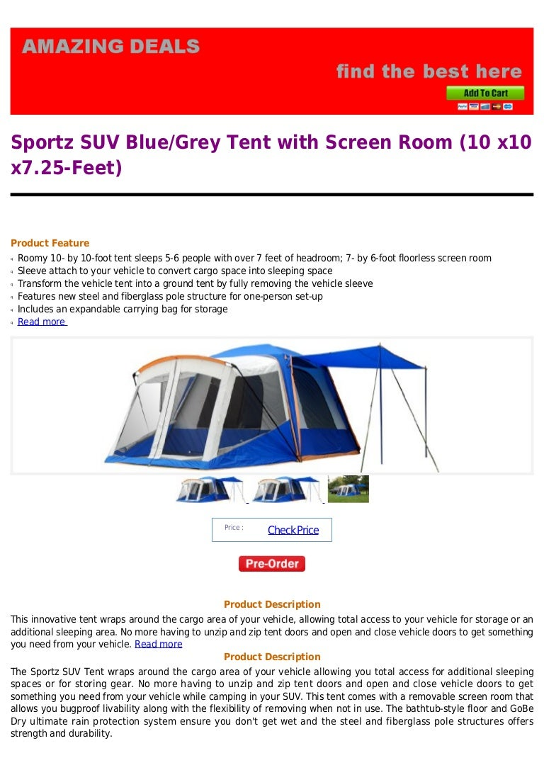 Sportz Suv Sportz Suv Blue Grey Tent With