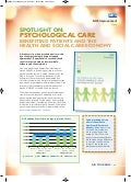 Spotlight on psychological care - benefiting patients and the health and social care economy - stroke