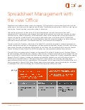 Spreadsheet Management with the new Microsoft Office