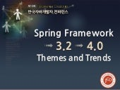 Spring framework 3.2 > 4.0 — themes and trends