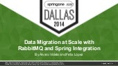Data Migration at Scale with RabbitMQ and Spring Integration