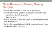 Sprint Review and Planning Template