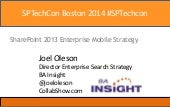 2014 SharePoint Enterprise Mobile Strategy