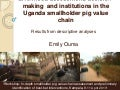 Livelihood assessment, decision-making  and institutions in the Uganda smallholder pig value chain: Results from descriptive analyses