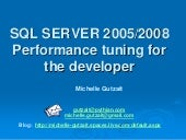 Sql Performance Tuning For Developers