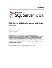 Sql server 2008 r2 performance and ...