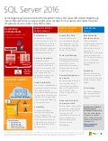 Microsoft SQL Server 2016 Datasheet - Preview