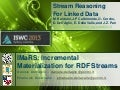 IMaRS - Incremental Materialization for RDF Streams (SR4LD2013)