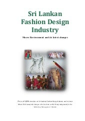Sri Lankan Fashion Design Industry