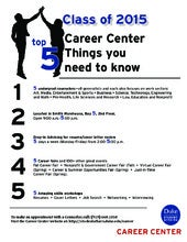 Senior Kickoff: What You Need to Know about the Career Center