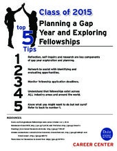 Senior Kickoff: Planning a Gap Year and Exploring Fellowships