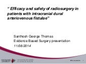 Efficacy and safety of radiosurgery in patients with intracranial dural arteriovenous fistulae