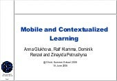 Mobile and Contextualized Learning