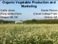 Southern SAWG--Organic Vegetable Production and Marketing