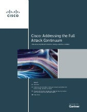 Cisco Addresses the Full Attack Continuum