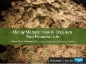 Money Matters: How to Stay Organized