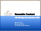 Rethinking and Remixing Content: Society of Scholarly Publishers Panel 2013
