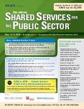 Shared Services for the Public Sector
