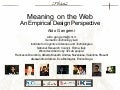Aldo Gangemi - Meaning on the Web: An Empirical Design Perspective