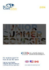 StGiles junior summer courses 2014 ...