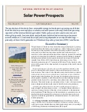 Solar Power Prospects