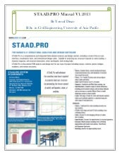 StaadPro Manual by yousuf dinar