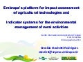 Embrapa's platform for impact assessment of agricultural technologies and Indicator systems for the environmental management of rural activities
