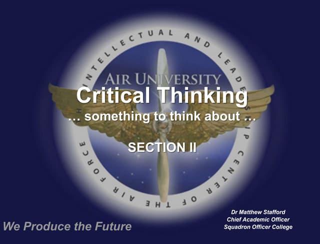 Critical Thinking Skills  Sale  Should