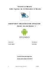 "Application Mobile ""Livre des histo..."