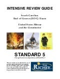 Standard 5 Review Guide (SC US History EOC)