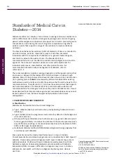 Standards of medical care in dm 2014