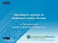 Standards update to New Zealand national e-health vendor forum