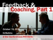 Stanford GSB: On Feedback and Coaching
